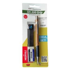 TOMBOW SH-300 GRİP K.KALEM 07MM OKUL SETİ/ALTIN